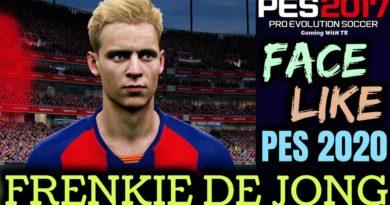 PES 2017 | FRENKIE DE JONG FACE & HAIR LIKE PES 2020