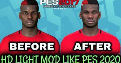 PES 2017 | HD LIGHT MOD LIKE PES 2020