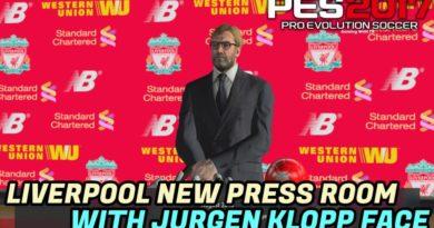 PES 2017   LIVERPOOL NEW PRESS ROOM WITH JURGEN KLOPP FACE