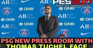 PES 2017 | PSG NEW PRESS ROOM WITH THOMAS TUCHEL FACE