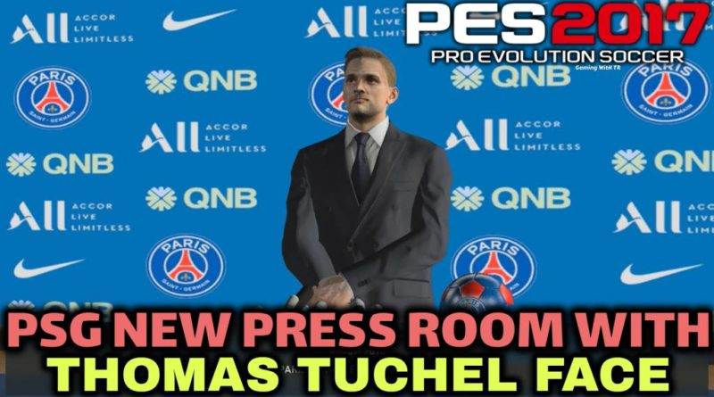 PES 2017 | PSG NEW PRESS ROOM WITH THOMAS TUCHEL FACE