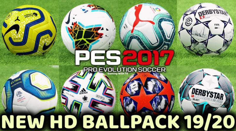 PES 2017 | NEW BALLPACK WITH FULLY TEXTURE 19-20