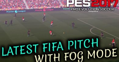 PES 2017 | LATEST FIFA PITCH WITH FOG MODE