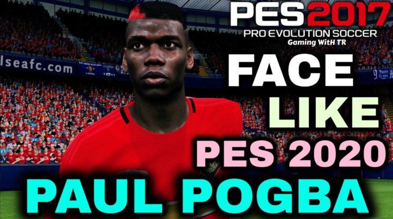 PES 2017 | PAUL POGBA FACE & HAIR LIKE PES 2020