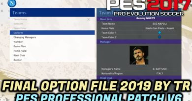 PES 2017 | FINAL OPTION FILE 2019 BY TR | ALL PLAYERS SKIN COLOR FIXED | PES PROFESSIONAL PATCH V6