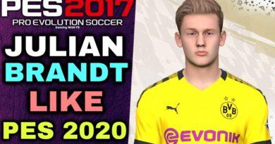 PES 2017 | JULIAN BRANDT FACE & HAIR LIKE PES 2020