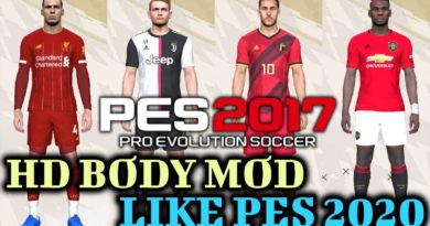 PES 2017 | HD BODY MOD LIKE PES 2020
