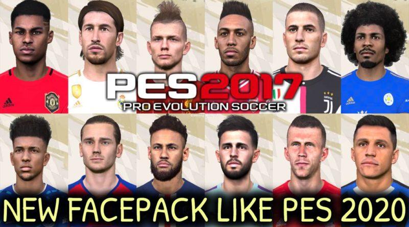 PES 2017 | NEW FACEPACK LIKE PES 2020 V4