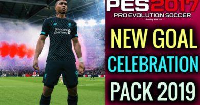 PES 2017   NEW GOAL CELEBRATION PACK 2019