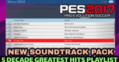 PES 2017 | NEW SOUNDTRACK PACK 2020 | 5 DECADE GREATEST HITS PLAYLIST