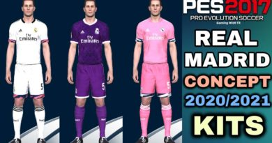 PES 2017 | NEW REAL MADRID CONCEPT 2020/2021 KITS