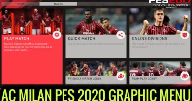 PES 2017 | AC MILAN PES 2020 GRAPHIC MENU