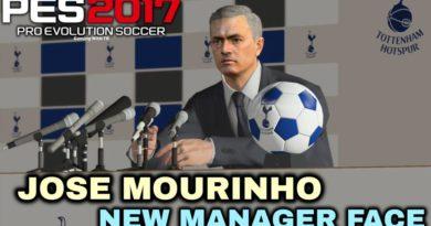 PES 2017 | JOSE MOURINHO | NEW MANAGER FACE