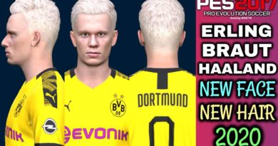 PES 2017 | ERLING BRAUT HAALAND | NEW FACE & NEW HAIR 2020