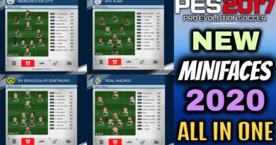 PES 2017   NEW MINIFACES 2020   ALL IN ONE 6576+