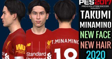PES 2017 | TAKUMI MINAMINO | NEW FACE & NEW HAIR 2020
