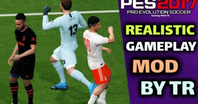 PES 2017 | REALISTIC GAMEPLAY MOD BY TR