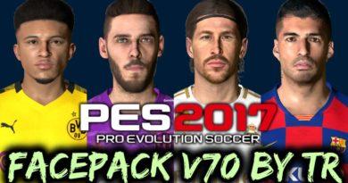 PES 2017 | FACEPACK V70 BY TR