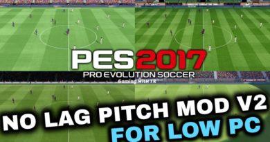 PES 2017   NO LAG PITCH MOD V2 FOR LOW PC