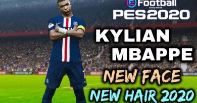 PES 2020   KYLIAN MBAPPE   NEW FACE   NEW HAIR 2020