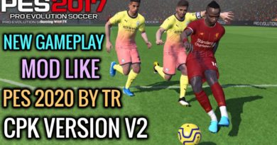 PES 2017 | NEW GAMEPLAY MOD LIKE PES 2020 BY TR | CPK VERSION V2