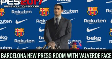 PES 2017 | BARCELONA NEW PRESS ROOM WITH ERNESTO VALVERDE FACE