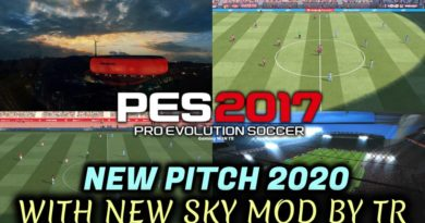 PES 2017 | NEW PITCH 2020 WITH NEW SKY MOD BY TR