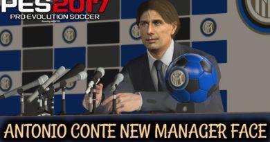 PES 2017 | ANTONIO CONTE | NEW MANAGER FACE