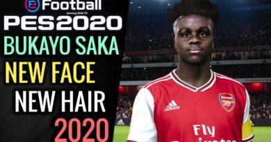 PES 2020 | BUKAYO SAKA | NEW FACE & NEW HAIR 2020 | DOWNLOAD & INSTALL