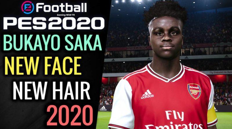 PES 2020   BUKAYO SAKA   NEW FACE & NEW HAIR 2020   DOWNLOAD & INSTALL