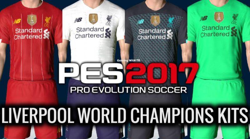 PES 2017 | NEW LIVERPOOL WORLD CHAMPIONS KITS 2020 | DOWNLOAD & INSTALL