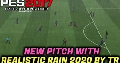 PES 2017   NEW PITCH WITH REALISTIC RAIN 2020 BY TR   DOWNLOAD & INSTALL