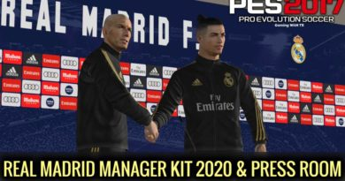 PES 2017 | REAL MADRID MANAGER KIT 2020 & PRESS ROOM | DOWNLOAD & INSTALL