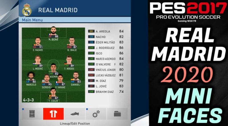 PES 2017 | NEW REAL MADRID 2020 MINIFACES | DOWNLOAD & INSTALL