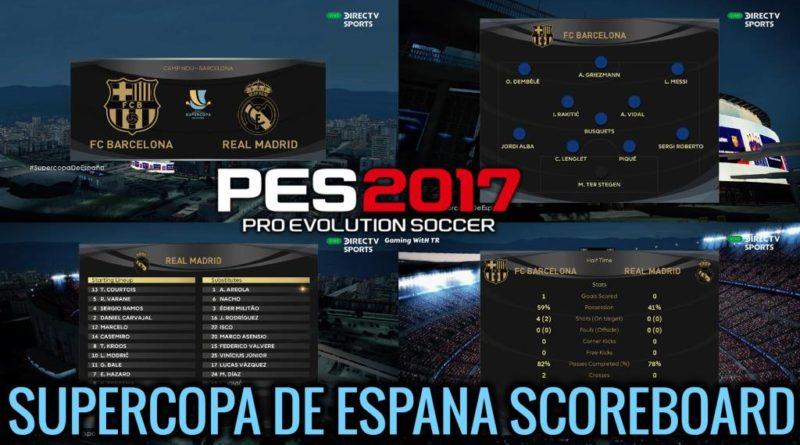 PES 2017 | NEW SCOREBOARD 2020 | SUPERCOPA DE ESPANA | DOWNLOAD & INSTALL