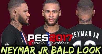 PES 2017 | NEYMAR JR | NEW BALD LOOK | DOWNLOAD & INSTALL