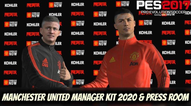 PES 2017 | MANCHESTER UNITED MANAGER KIT 2020 & PRESS ROOM | DOWNLOAD & INSTALL