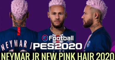 PES 2020 | NEYMAR JR | NEW FACE & NEW PINK HAIR 2020 | DOWNLOAD & INSTALL