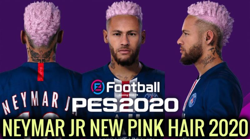 PES 2020 | NEYMAR JR | NEW FACE & NEW PINK HAIR 2020 | DOWNLOAD & INSTALL