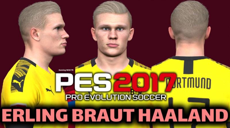 PES 2017 | ERLING BRAUT HAALAND | NEW FACE & NEW HAIR | DOWNLOAD & INSTALL
