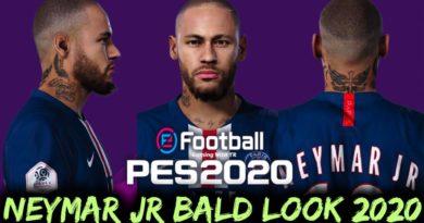 PES 2020   NEYMAR JR   NEW BALD LOOK 2020 & NEW FACE   DOWNLOAD & INSTALL