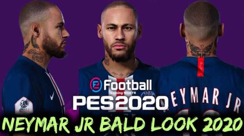 PES 2020 | NEYMAR JR | NEW BALD LOOK 2020 & NEW FACE | DOWNLOAD & INSTALL