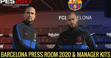 PES 2017 | BARCELONA PRESS ROOM 2020 | MANAGER KITS | DOWNLOAD & INSTALL