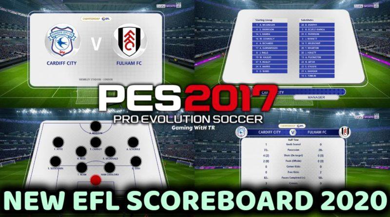PES 2017 | NEW SCOREBOARD 2020 | EFL CHAMPIONSHIP 2020 | DOWNLOAD & INSTALL