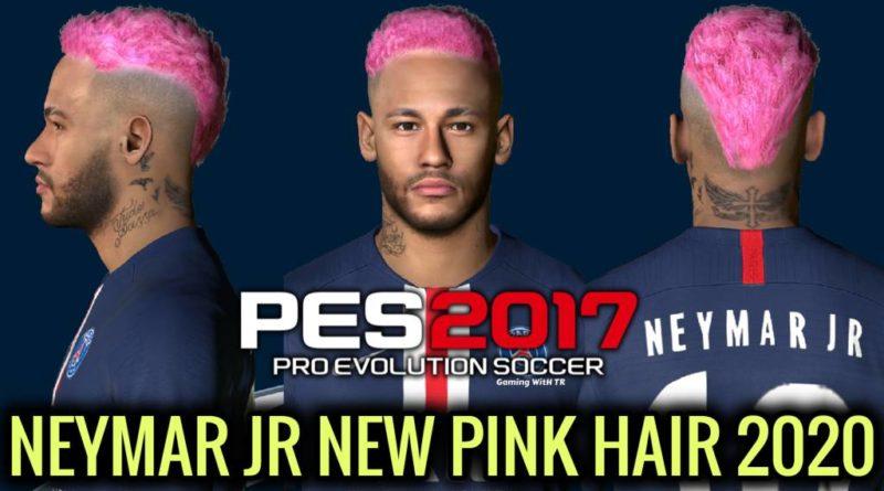 PES 2017 | NEYMAR JR | NEW FACE & NEW PINK HAIR 2020 | DOWNLOAD & INSTALL