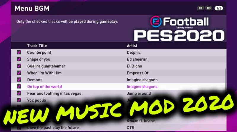 PES 2020 | NEW MUSIC MOD 2020 | DOWNLOAD & INSTALL