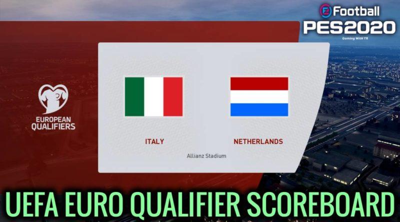 PES 2020 | UEFA EURO QUALIFIER SCOREBOARD | CPK VERSION | DOWNLOAD & INSTALL
