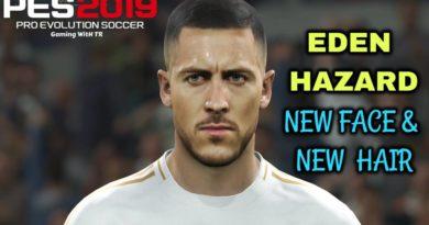 PES 2019 | EDEN HAZARD | NEW FACE & NEW HAIR | DOWNLOAD & INSTALL