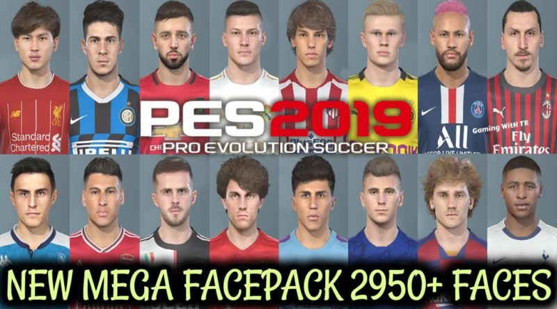 PES 2019 | NEW MEGA FACEPACK | 2950+ NEW FACES | SMOKE PATCH 2020 | DOWNLOAD & INSTALL