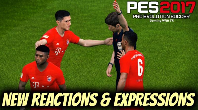PES 2017 | NEW REACTIONS & EXPRESSIONS PACK BY TR | DOWNLOAD & INSTALL